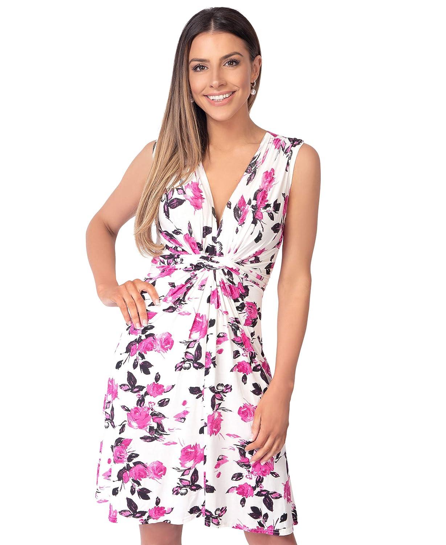 TALLA 48. KRISP Vestido Corto Patinadora Vuelo Fruncido Busto Rosa (6252) 48