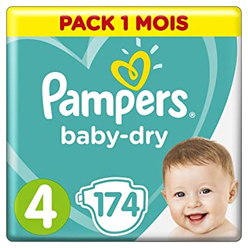 Pampers Baby Dry Couches Taille 4 9 14 8 16 Kg Pack 1 Mois