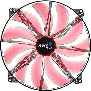 AeroCool Silent Master 200mm Red LED Cooling Fan EN55659