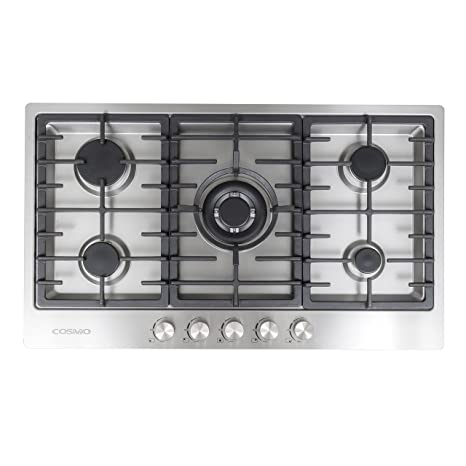 Cosmo VA S950M Stainless Steel Gas Cooktop