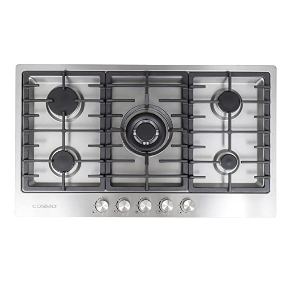 Amazon.com: Cosmo – va-s950 m Acero Inoxidable Gas Cooktop ...