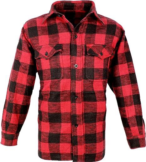 Desconocido Outdoor Leñador Camisa Woodcutter Rojo-Negro 3XL: Amazon.es: Deportes y aire libre