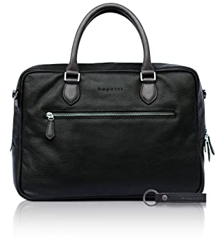 54cfe52395b3e bugatti Citta Aktentasche aus echtem Leder für Herren - edle Businesstasche  in schwarz