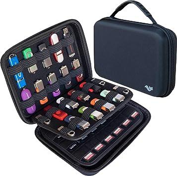 Gran Capacidad USB para Almacenamiento de Memoria, Tarjeta de Memoria SD SDXC SDHC, Soporte para Tarjetas SDHC, Estuche para Disco Duro Externo, Organizador Universal de Accesorios electrónicos: Amazon.es: Electrónica