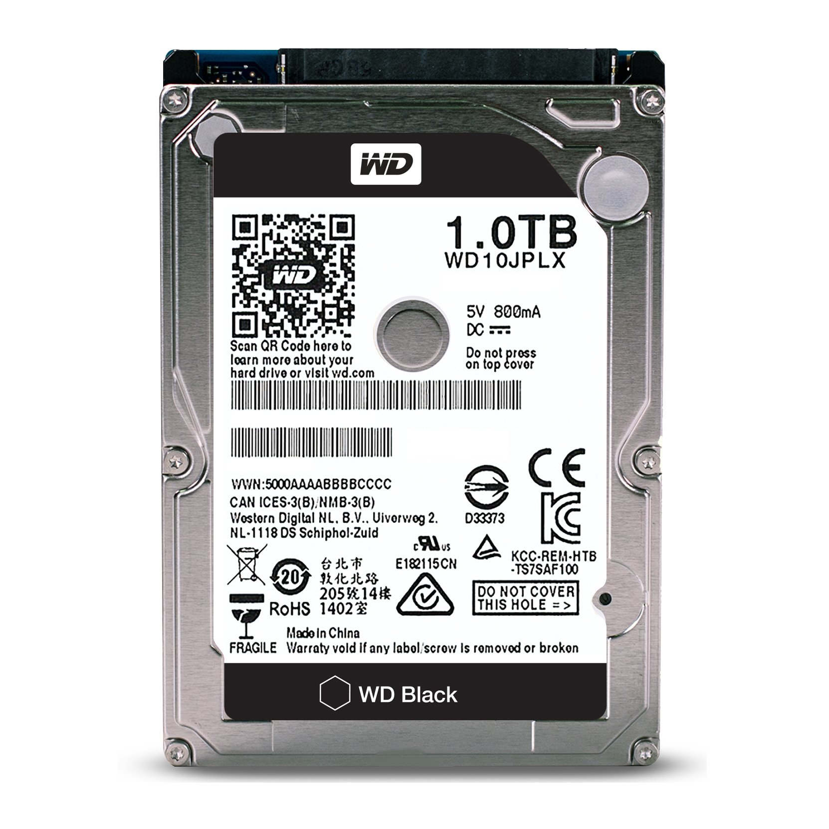 WD Black 1TB Performance Mobile Hard Disk Drive - 7200 RPM SATA 6 Gb/s 32MB Cache 9.5 MM 2.5 Inch - WD10JPLX by Western Digital