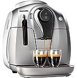 Philips HD8651/31Series 2000 Espressomaschine, automatisch, Mahlwerk aus Keramik, leise, klassischer Milchaufschäumer, silberfarben