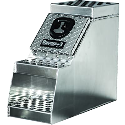 Buyers Products 1705180 Heavy Duty Diamond Tread Aluminum Step Box (24x28x12 Inch): Automotive
