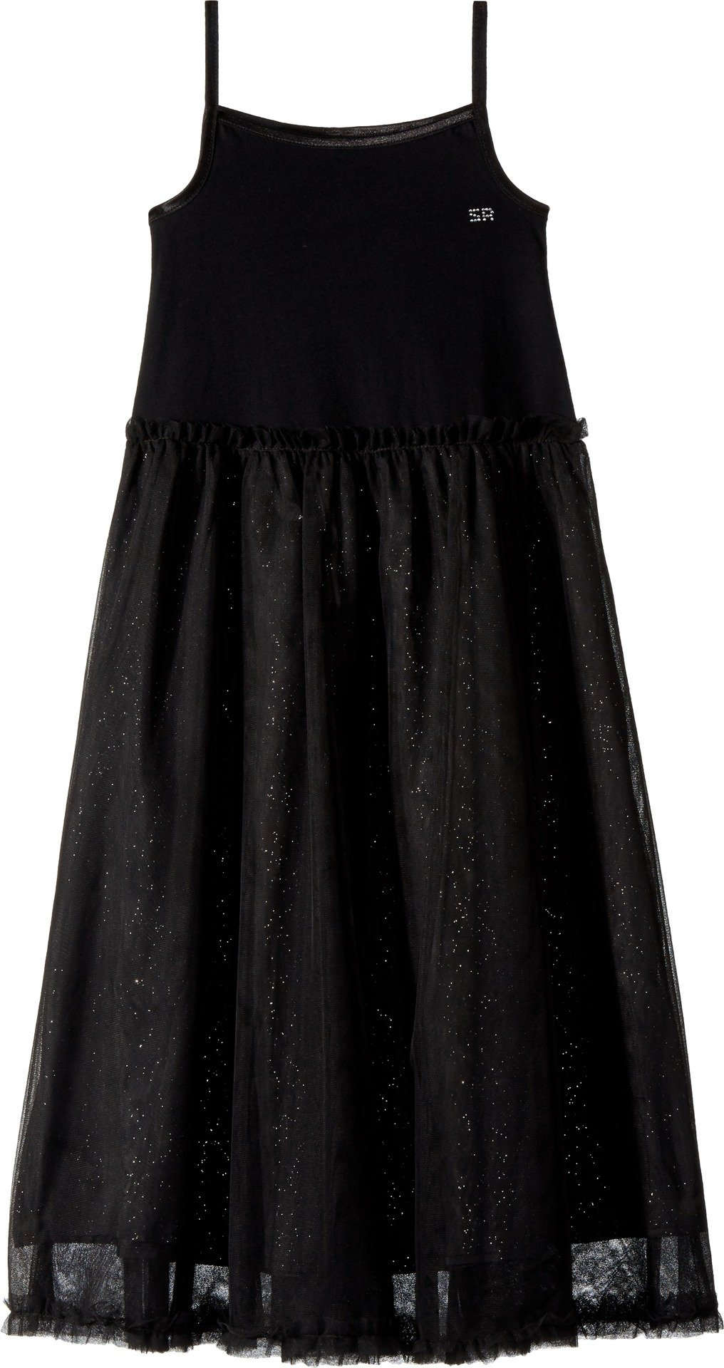 Sonia Rykiel Kids Girl's Agnes Maxi Dress w/Tulle Skirt (Little Kids/Big Kids) Black 14 Years