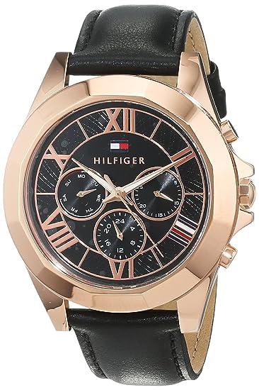 Tommy Hilfiger Reloj Multiesfera para Mujer de Cuarzo con Correa en Cuero 1781845: Amazon.es: Relojes