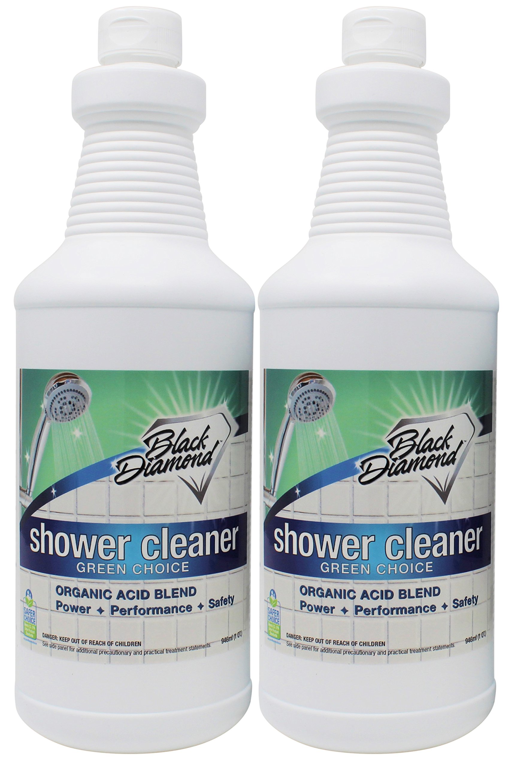 GREEN CHOICE Shower Tub Tile Glass Bathroom Cleaner- EPA Green Certified, Professional Strength, Removes Soap Scum Calcium and Hardwater Deposits. by Black Diamond Stoneworks