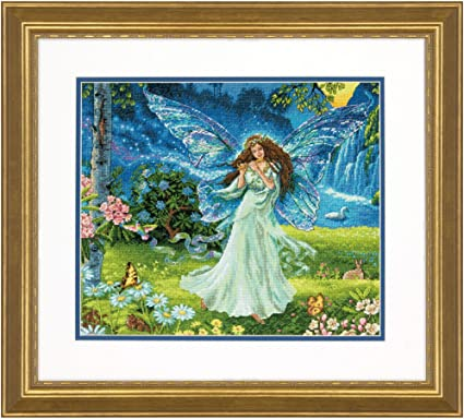 "14 Coun Dimensions Gold Collection Counted Cross Stitch Kit 14/""X12/""-Fall Fairy"