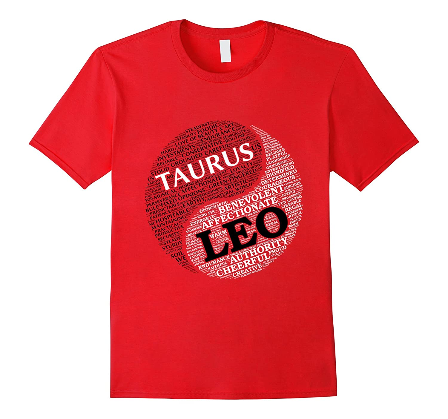 Zodiac Facts shirt for Men & Women Taurus and Leo T-shirt-TH