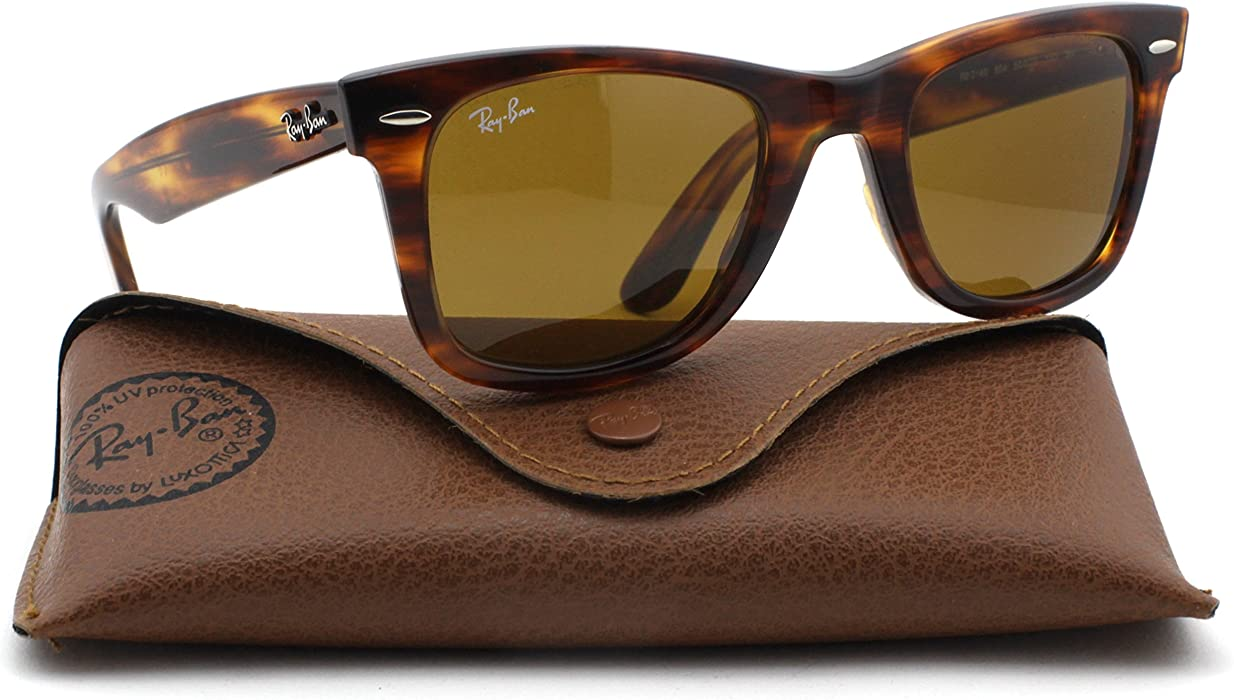 aa2bb14cb7 Ray-Ban RB2140 Original Wayfarer Unisex Sunglasses (Tortoise Frame Brown  Lens 954