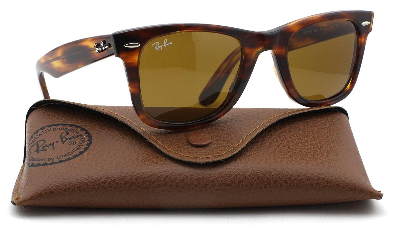 3be980e9ae0fe Ray-Ban RB2140 Original Wayfarer Unisex Sunglasses (Tortoise Frame   Brown  Lens 954