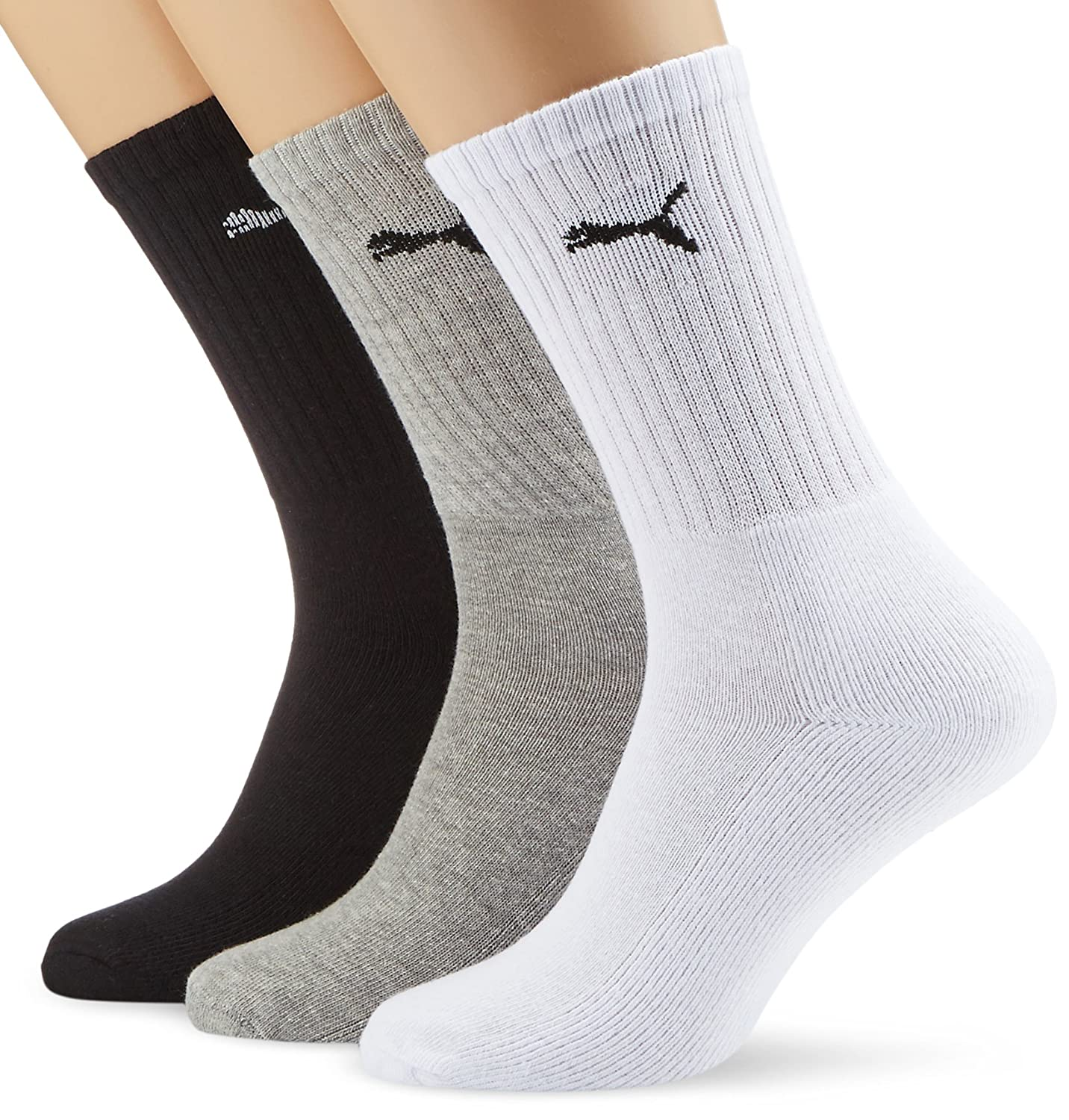 Puma Mens Pack Of 3 Pairs Of Cotton Tennis Socks With Boucle Interior at Amazon Mens Clothing store: