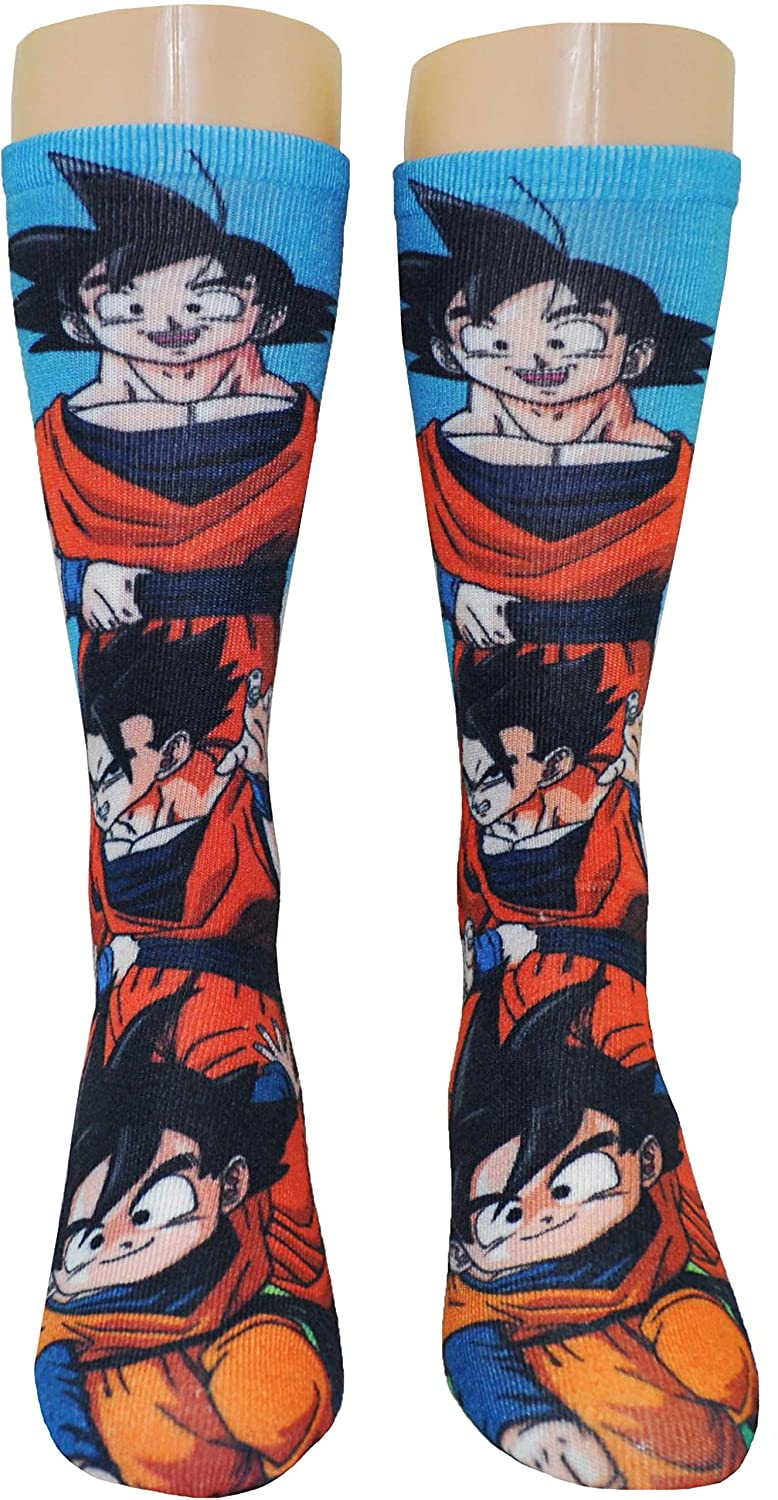 Dragonball Z Goku and Family Photoreal Crew Calcetines: Amazon.es: Juguetes y juegos