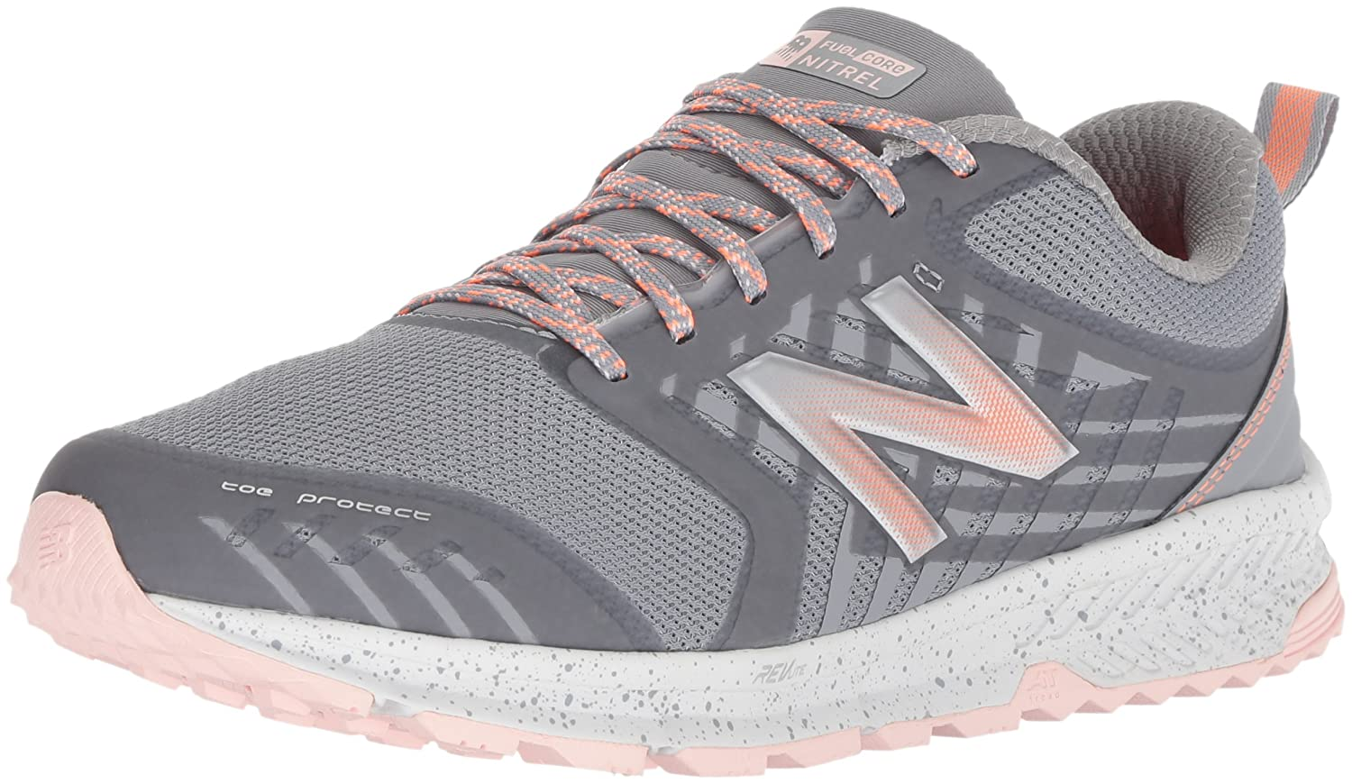 New Balance Women's Nitrel v1 FuelCore Trail Running Shoe B072JTQK8P 7.5 D US|Grey