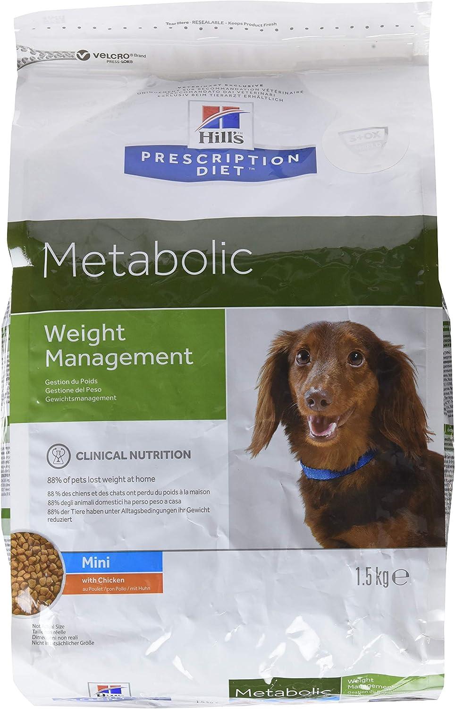 Hill`s Metabolic Mini - Alimento Dietético para Perros - 2 Paquetes de 1500 gr - Totale: 3000 gr