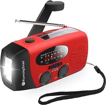 RunningSnail Hand-cranked Flashlight with AM/FM Radio