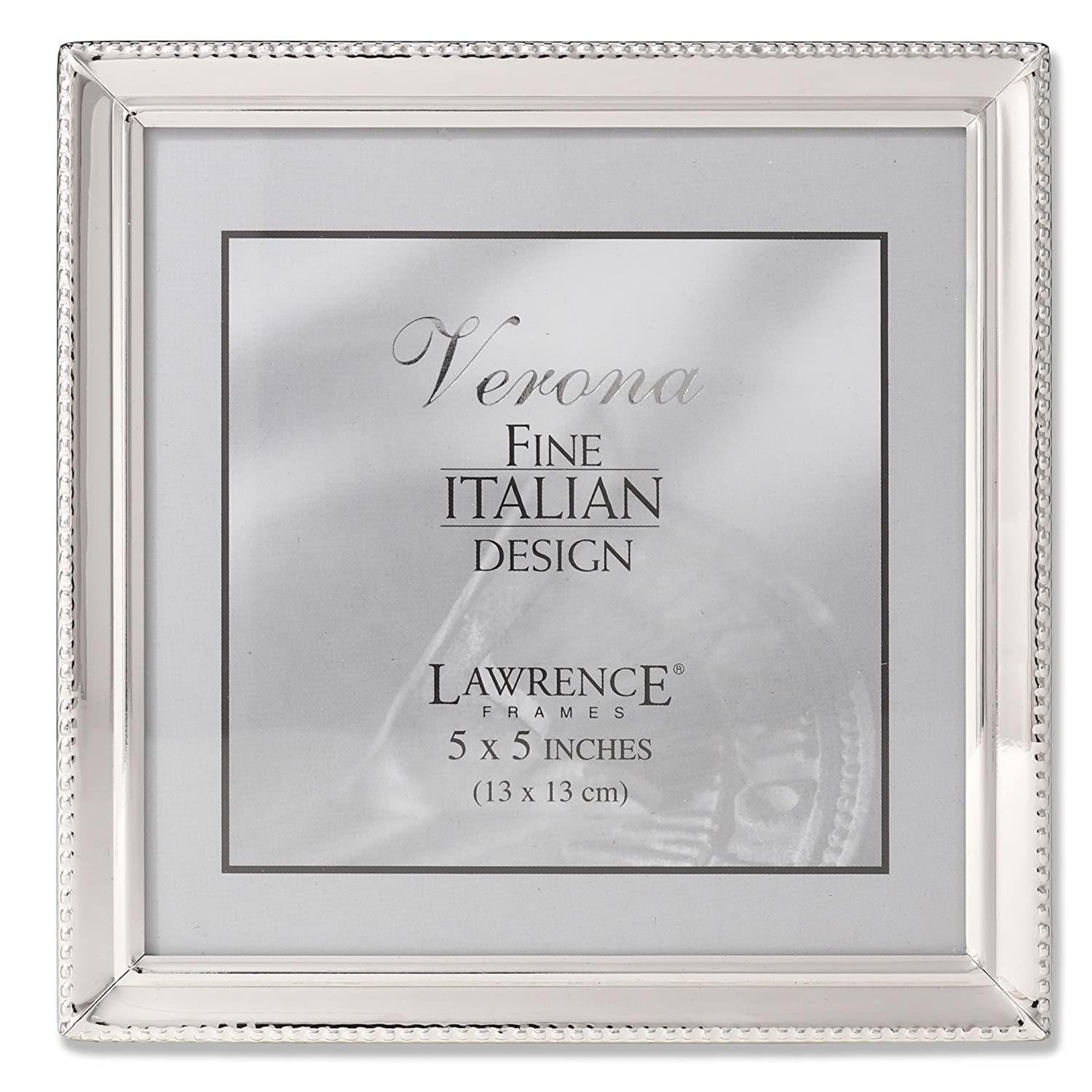 Amazoncom Lawrence Frames Polished Silver Plate 5x5 Picture Frame