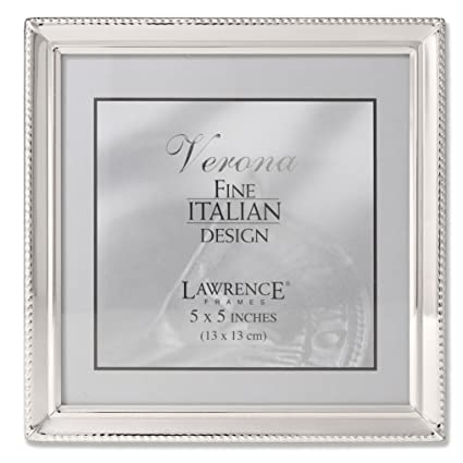 Amazon.com - Lawrence Frames Polished Silver Plate 5x5 Picture Frame ...