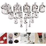 Soledi 15Pcs Diamond Coated Core Hole Saw Drill Bit Extractor Remover Set Tools For Tiles Marble Glass Ceramic etc