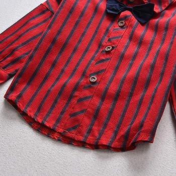 Tianhaik 1-6 años niños Corbata de Lazo Camisa Tirantes Pantalones ...
