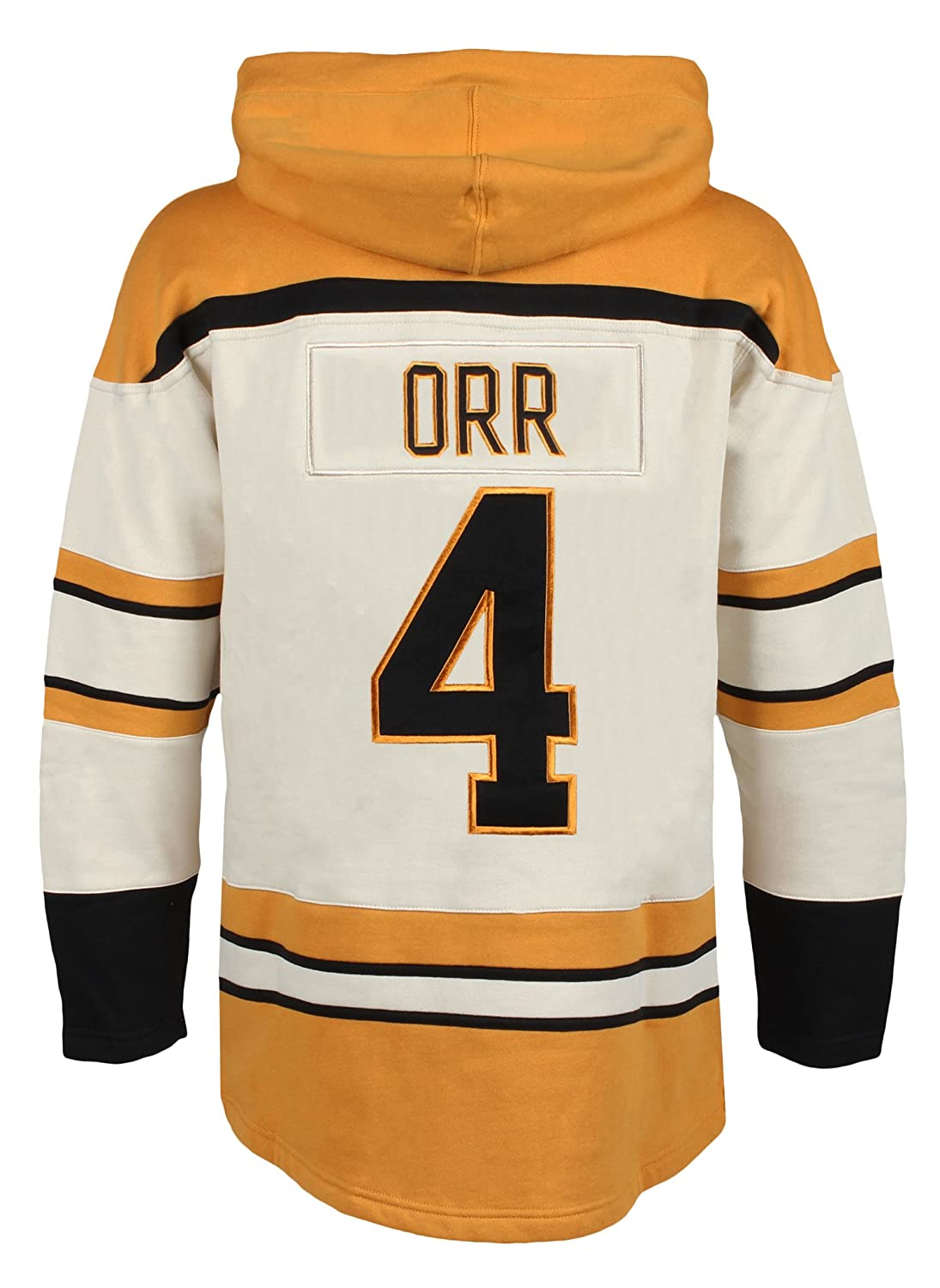1910fc659 Amazon.com   Old Time Hockey NHL Boston Bruins Bobby Orr Men s Player Lacer  Name   Number Hoodie