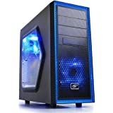 DEEPCOOL TESSERACT SW Mid Tower Computer Case Blue LED Fans Side Window Standard ATX chassis