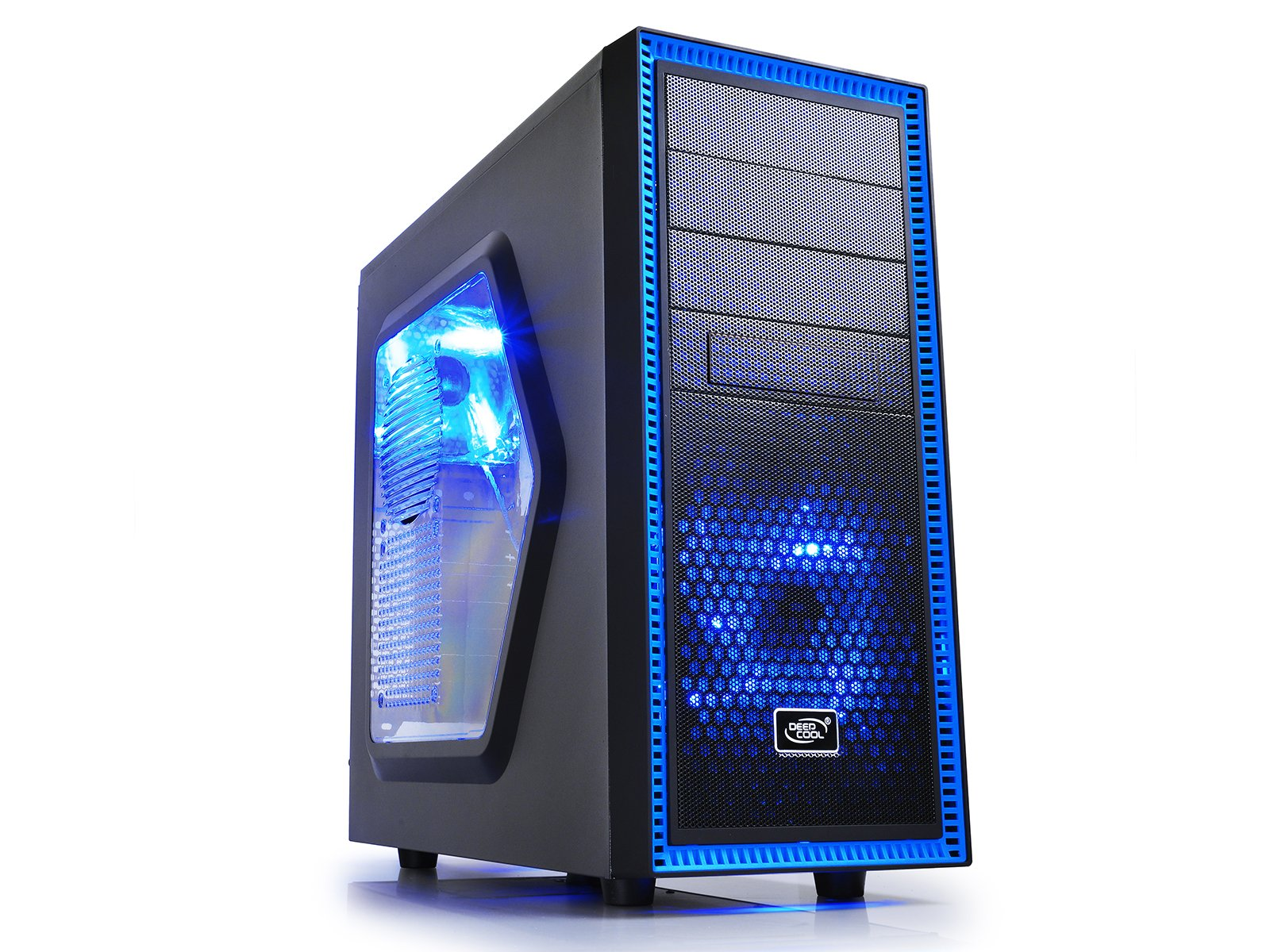 DEEPCOOL TESSERACT SW Mid Tower Computer Case Blue LED Fans Side Window Standard ATX chassis by DEEPCOOL (Image #1)