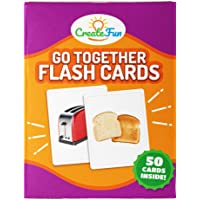 Go Together Flash Cards | 50 Matching Language Development Educational Photo Cards | with 7 Starter Learning Games | for…