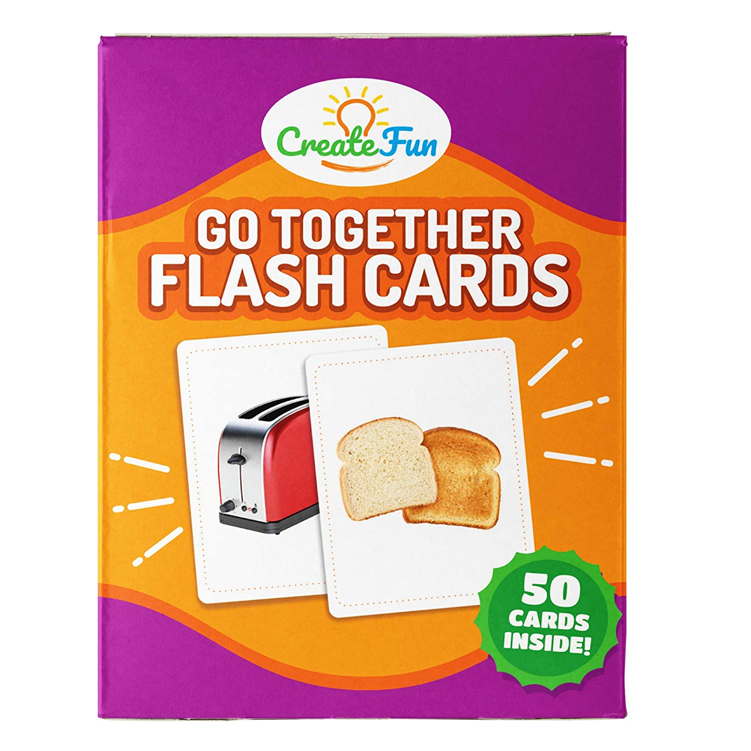 Go Together Flash Cards | 50 Matching Language Development Educational Photo Cards | with 7 Starter Learning Games | for Parents, The Classroom, Speech Therapy Materials and Montessori Materials