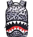 Grey Leopard Shark Backpack, M...