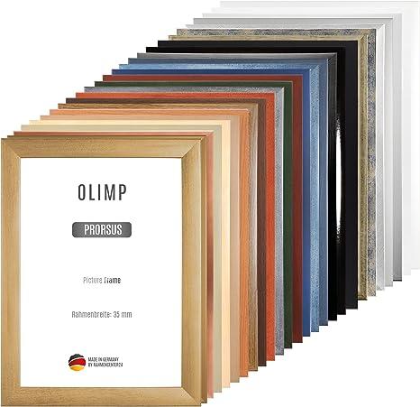 Olimp Sport Nutrition PRORSUS 35mm Cadre Photo sur Mesure pour Images 70x41cm en Couleur Bleu ardeuse Cadre Fait Main en MDF dot/é d/'Un Verre Synth/étique Antireflet