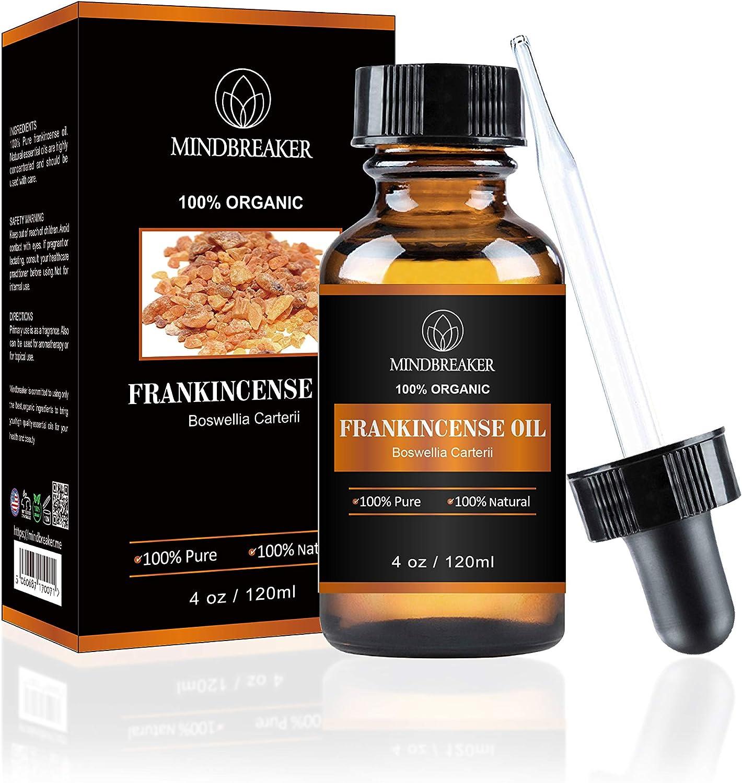 Mindbreaker Frankincense Essential Oil Premium Quality Frankincense Oil, 4 fl. Oz (4 Ounce)