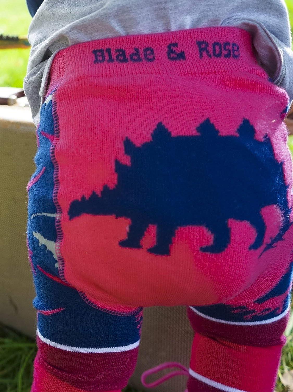 Blade /& Rose Pink Stegosaurus Kids Leggings