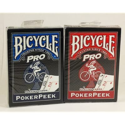 Poker Bicycle Pro Peek Playing Cards - 2 Decks!: Sports & Outdoors