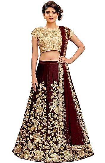 7d3847fa3f MR Fashion Women's Velvet Lehenga Choli (Maroon, Free Size): Amazon ...