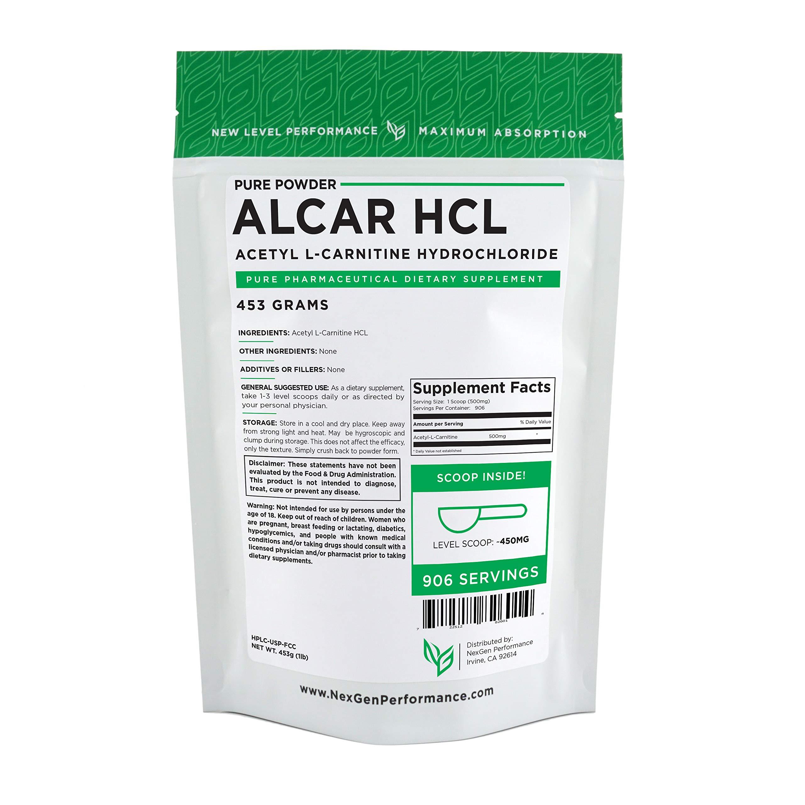 Acetyl L-Carnitine (ALCAR) | Energy & Performance (1lb (16oz))