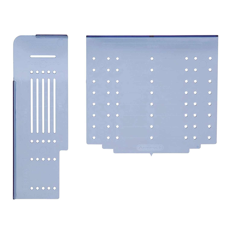 Amerock TMPMULTI Cabinet Door/Drawer Hardware Installation Template Combo Pack