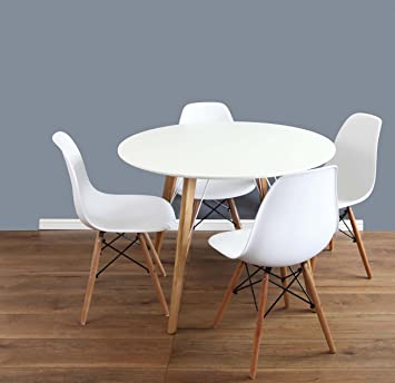 Mmilo Eiffel Inspired Contemporary Dining Table And Chairs Set Round