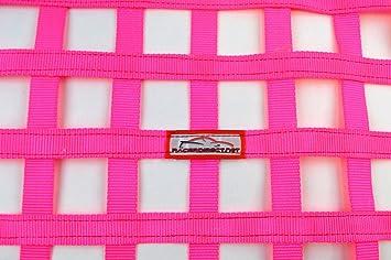 Racerdirect.net SFI 27.1 Square Ribbon Safety Window Net 24 X 24 Hot Pink