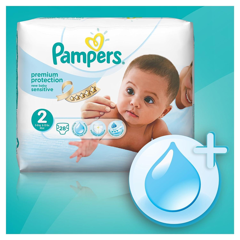 Pampers - New Baby Sensitive - Pañales - Talla 1 (2-5 kg) - 4 x 23 pañales: Amazon.es: Salud y cuidado personal