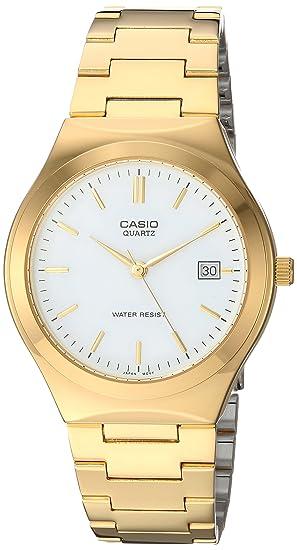 Casio MTP1170N - Reloj de cuarzo para hombre, con correa de acero inoxidable, color dorado: Amazon.es: Relojes