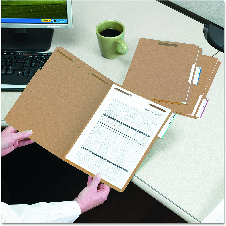 Smead Fastener File Folder, 2 Fasteners, Reinforced 1/3-Cut Tab, Letter Size, Kraft, 50 per Box (14837): Industrial & Scientific