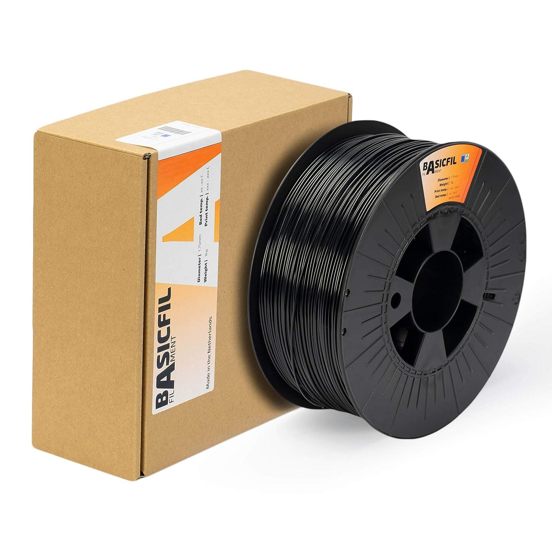 BASICFIL ABS 1.75mm, 1 kg filamento de impresión 3D, Negro: Amazon ...