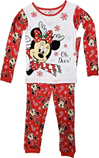 Baby & Toddler Clothing 4t Sleepwear Minnie Mouse Christmas Bells And Bows Fleece Pajama Sleeper Set