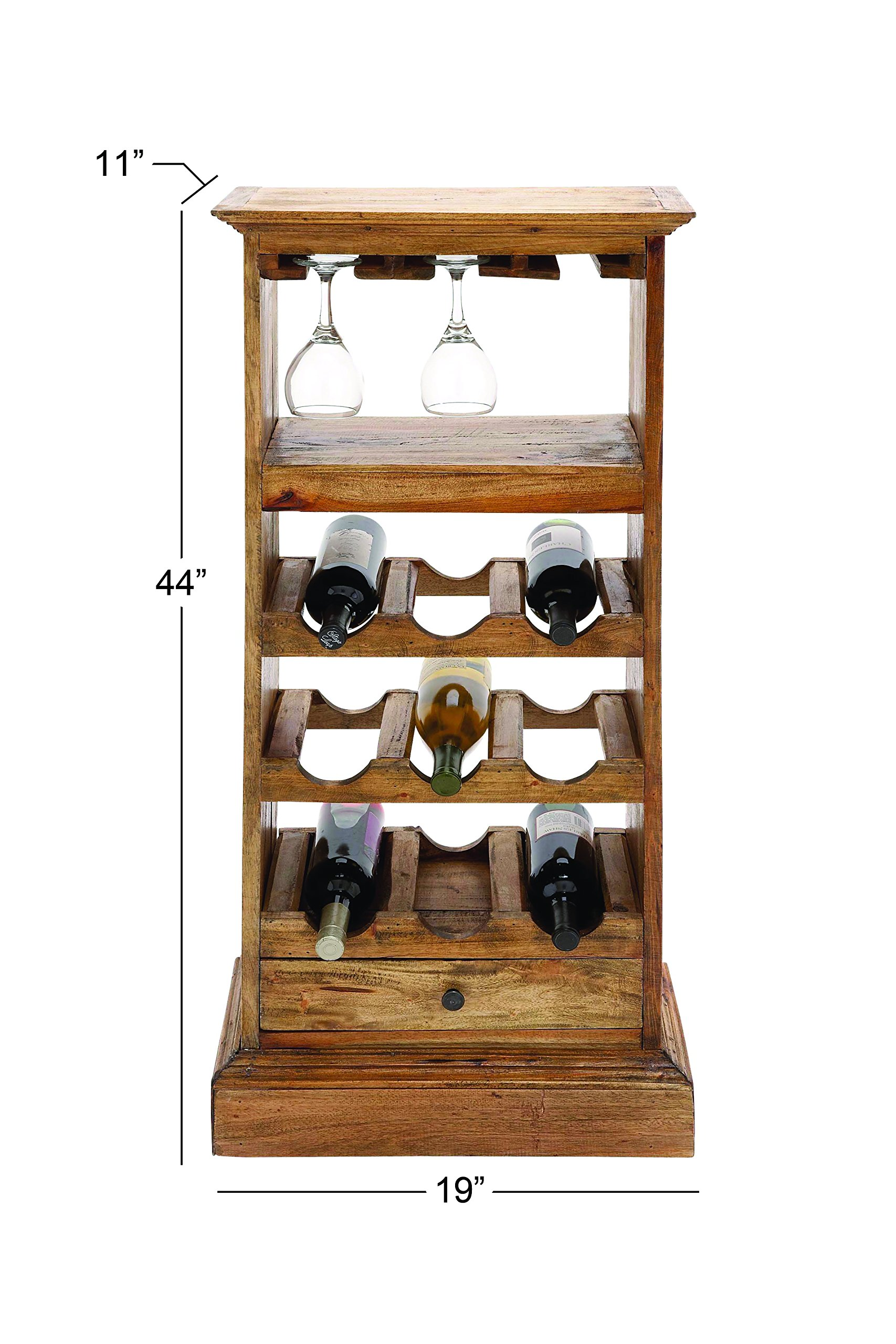 Deco 79 Wood Wine Rack, 19 by 44-Inch