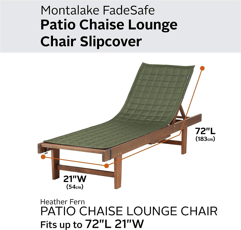 Heather Fern Classic Accessories Montlake FadeSafe Chaise Lounge Slip Cover 72 x 21
