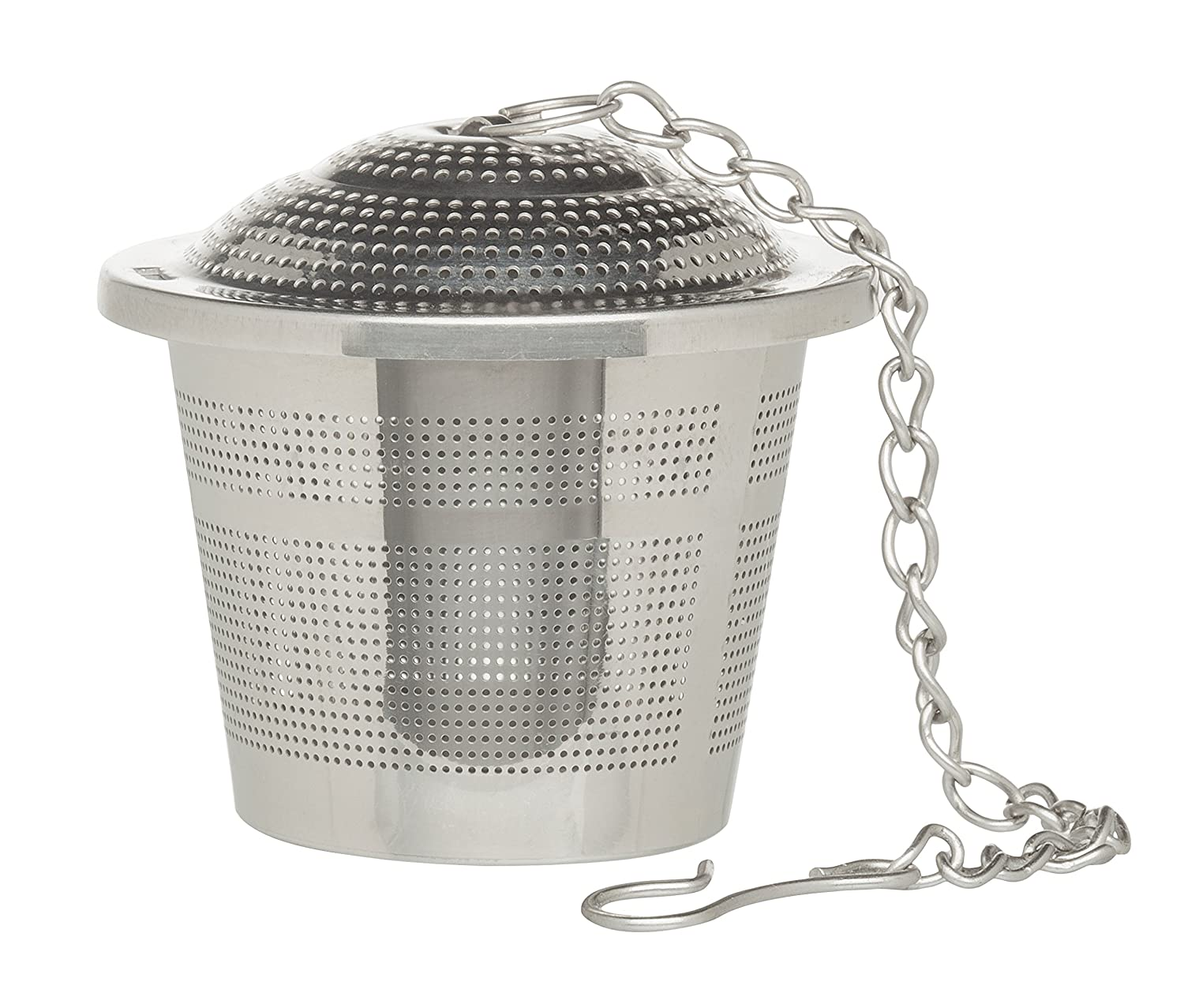 HIC Tea Infuser, Triangle, 18/8 Stainless Steel Mesh, 1.75 by 1.25 43759